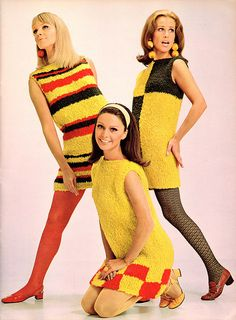 spinnerin_vol183_northern_lights by it's better than bad. Knit and color-block in 1960s fashion!