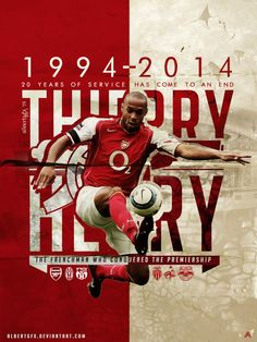 Thierry Henry Poster 2014 by AlbertGFX on DeviantArt Arsenal Fc, Arsenal Ladies, Arsenal Football, Logo Arsenal, College Football, Football Players, Manchester City, Manchester United, Manchester Derby
