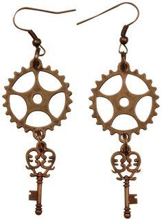Boucles d'Oreilles FANTAISIE - Wheels - http://rockagogo.com