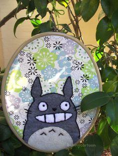 My Neighbor Totoro embroidery hoop art