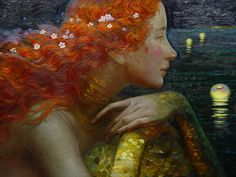 Anticipation (detail) by Victor Nizovtsev his work is available on mcbridegallery.com