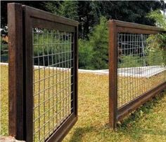Image result for how to make a gate for a wire fence