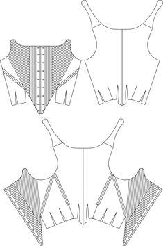 Indumentaria valenciana justillo Costume Patterns, Dress Patterns, Sewing Patterns, Sewing Clothes, Diy Clothes, Corset Tutorial, Diy Corset, Wedding Corset, 18th Century Dress