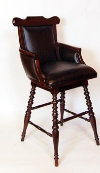 Captains chair bar stool with swivel