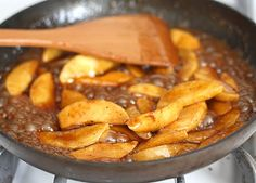 Fried Apples Recipe - had this for dessert tonight over vanilla ice cream! OMG!! Heaven in a bowl!