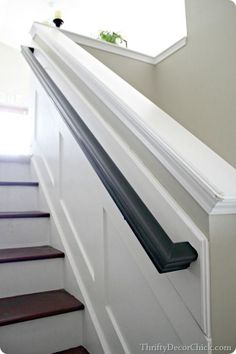 ideas black stairs railing house for 2019 Black Stair Railing, Wall Railing, Staircase Handrail, Black Stairs, Staircase Design, Staircases, Banisters, Railing Ideas, Wood Handrail
