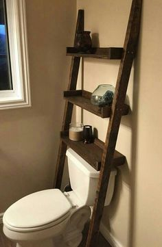 Handmade Rustic Bathroom Shelf Bathroom LadderBathroom