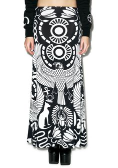 Kill Star Vulture Maxi Skirt | Dolls Kill