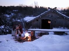 Rosala Viking Centre, Finland Vikings, Viking Tribes, A Well Traveled Woman, Long House, Viking Life, Winter Scenery, Farms Living, Cabins And Cottages, Cabins In The Woods