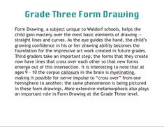 Waldorf ~ 3rd grade ~ Form Drawing ~ Introduction