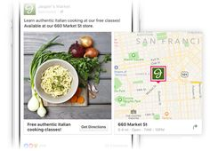 Once you start creating, under Location, use your Facebook Page location to reach people close to your business. This allows you to show your ad to potential customers located in the area of your business. Select the radius where you want your ad to appear, between 1-15 miles to grab the right audience . #facebookads #targetaudience #facebookmareketing #SanDiego #Dallas #SanJose #Austin #edinburgh #unitedstaes Latest Facebook, How To Use Facebook, Target Audience, Get Directions, Cooking Classes, Ads, Business, Content Marketing, Digital Marketing