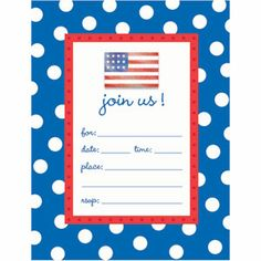 Patriotic Invitations