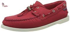 Sebago Docksides, Chaussures Bateau Homme, Rouge (Red Ariaprene), 42 EU - Chaussures sebago (*Partner-Link)