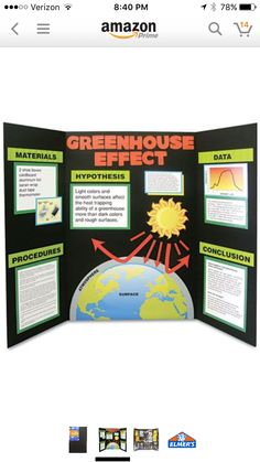 Green And Red On Black Trifold · Poster Board IdeasProject BoardProject  IdeasPresentation ...