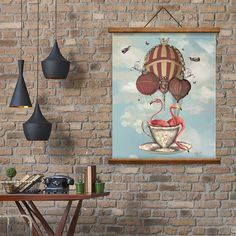 Are you interested in our alice in wonderland gift? With our flamingo art print you need look no further.