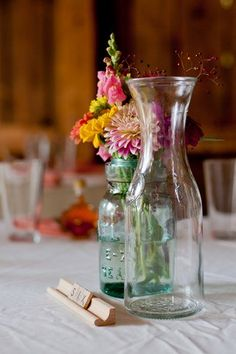 Rustic Scrabble Wedding Table Numbers. See more here: Colorful Rustic Vermont Outdoor Wedding | Confetti Daydreams ♥  ♥  ♥ LIKE US ON FB: www.facebook.com/confettidaydreams  ♥  ♥  ♥ #Wedding #RusticWedding #RealBride