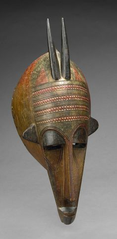 Africa   Mask in the form of an antelope's head from the Malinke people of Mali   Wood and pigment