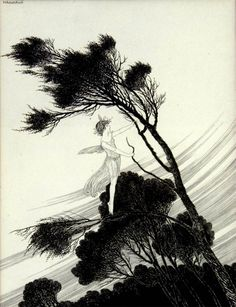 Ida Rentoul Outhwaite: The South Wind Fairy - The Enchanted Forest (1921)