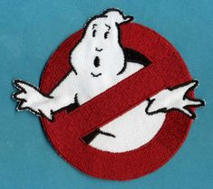 Ghostbusters No Ghost Costume Tag Iron-on Patch. Great for Ghostbusters costumes.