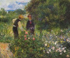 Pierre August Renoir: Conversation with the gardener