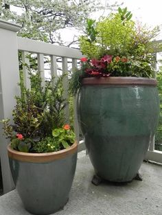 Glazed Ceramic Containers Container Gardens Sublime Garden Design Snohomish, WA