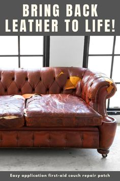 Great news! No need to buy new stuff, just bring your favorite furniture, leather car seats and clothes back to life! Leather Furniture Repair, Leather Repair, Furniture Makeover, Diy Furniture, Diy Home Repair, Home Hacks, My Living Room, Home Projects, Decoration