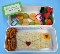 Love Letters Valentine's Bento. #lunchboxlove  #valentines  #monbento