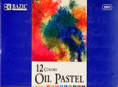 Bazic 12 Colors Oil Pastels Set is available at Scrapbookfare.