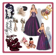 Tulle Prom Dresses With Rhinestone by johnnymuller on Polyvore featuring Marco de Vincenzo, Dolce&Gabbana, Federica Rettore and Grace