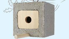 Upcycled Cinder Block Birdhouse