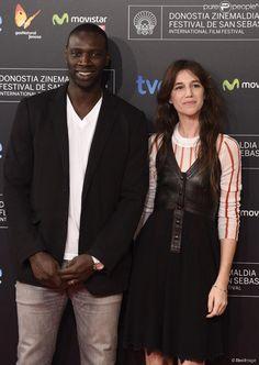 Omar Sy et Charlotte Gainsbourg - Cérémonie de clôture du 62e festival du film de San Sebastian....