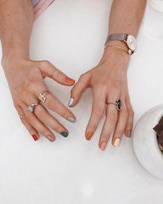 Digital Haute Couture. Matte Nails, Gel Nails, Acrylic Nails, Nail Polish, Matte Pink, Pink Nails, Multicolored Nails, Colourful Nails, Colorful