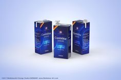 Packaging 3D model of the SIG Combibloc Slimline 1000ml with combiCap