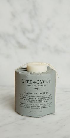 LITE + CYCLE LAVENDER PILLAR CANDLE. #candle #reformation