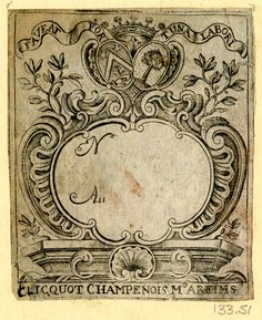 antique label of Chicquot champagne