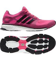 adidas Womens Energy Boost ESM Neutral Running Shoes Flash OrangeWhiteBlack