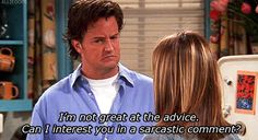 "The 33 Best Chandler Bing One-Liners| Always my fav. series. Nothing could compare to ""Friends"""