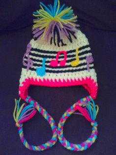 Handmade Crochet Music Hat Made To Order by quietzoo on Etsy, $28.00