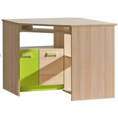 Reduced desks with storage space- Youth room – Dennis 11 desk, color: Ash purp. - Reduced desks with storage space- Youth room – Dennis 11 desk, color: Ash purple – Dimensions: 78 x 97 x 78 cm (H x W x D) - Diy Furniture Nightstand, Office Storage Furniture, Simple Furniture, Desk Storage, Diy Furniture Plans, Diy Furniture Projects, Storage Spaces, Nightstands, Kids Furniture