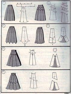 TEJIDOS Y MANUALIDADES DE LA WEB: faldas+patrones