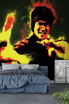 Bruce Lee Wall Mural - Wallpaper