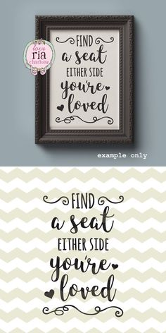 Wedding seating sign Find a seat either side by LoveRiaCharlotte