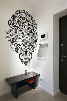 Графика в интерьере: рисунки на стенах в квартире.