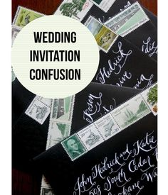 Day 2: Guest Experience-Invitation Confusion Wedding Invitation Etiquette | How to address a wedding invitations | #wedding #invitation #addressing | Allyson VinZant Weddings + Happy Planning |