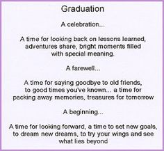 Graduation, Graduation Poems, Graduation Poems Blog, Cards, Quotes Online:  High School