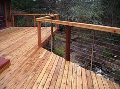 deck cable railing. Save but doesn't obstruct the view.
