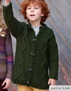 Ravelry: Jacket pattern by Fil Katia Baby Cardigan Knitting Pattern, Baby Boy Knitting, Chunky Knitting Patterns, Hoodie Pattern, Jacket Pattern, Knitting For Kids, Knit Patterns, Ethical Clothing, Winter Kids