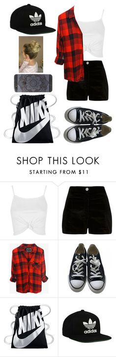 """""Don't cry because it's over, smile because it happened."" ― Dr. Seuss"" by mm2004 ❤ liked on Polyvore featuring Topshop, River Island, Rails, Converse, NIKE and adidas Originals"