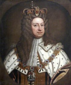 GEORGE I (1660 - 1727), King of Great-Britain & Ireland, Elector of Hannover. He was the first monarch of the Hannover House in Great Britain.