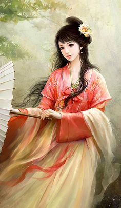 ❈ Geisha by Sky ❈ Art Anime, Manga Art, Art Chinois, Chinese Drawings, L5r, 3d Fantasy, Painting Of Girl, Girl Paintings, China Art